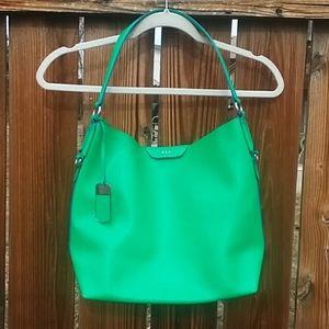 Ralph Lauren green leather shoulder bag